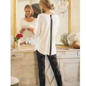 Soft Surroundings Cream Margulies Sweater M